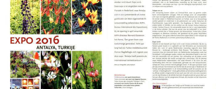 Tuinjournaal september 2016 – thema 'Aards paradijs'
