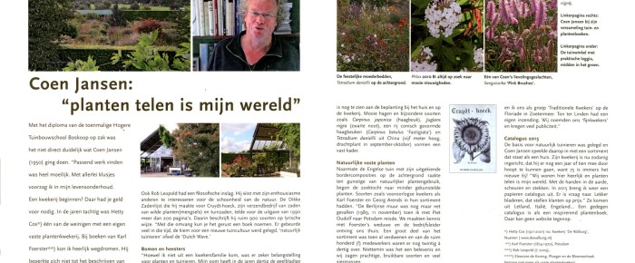 Tuinjournaal – winter 2014-2015