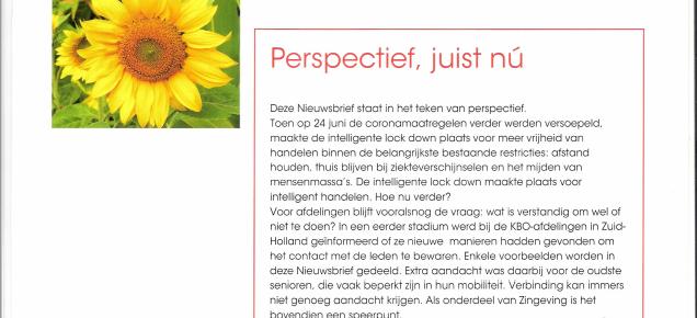 Nieuwsbrief KBO Zuid-Holland – juli 2020