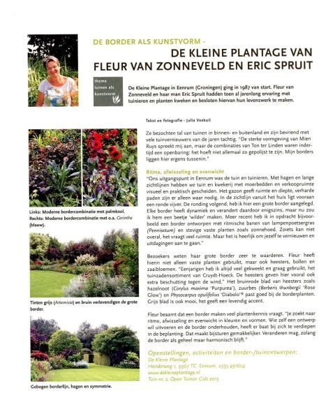 Tuinjournaal dec 2013 Fleur van zonneveld en Eric Spruit