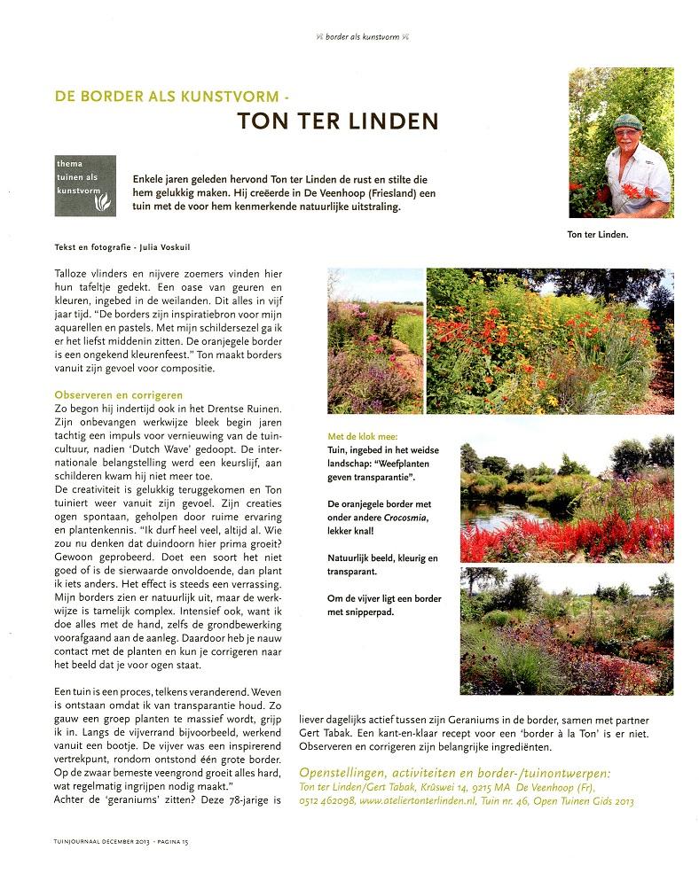 Tuinjournaal dec 2013 Ton ter Linden