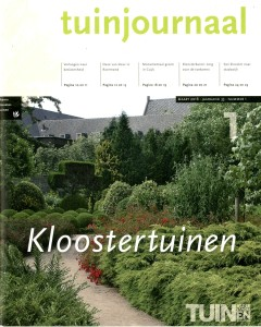 Tuinjournaal maart - omslag Kloostertuinen