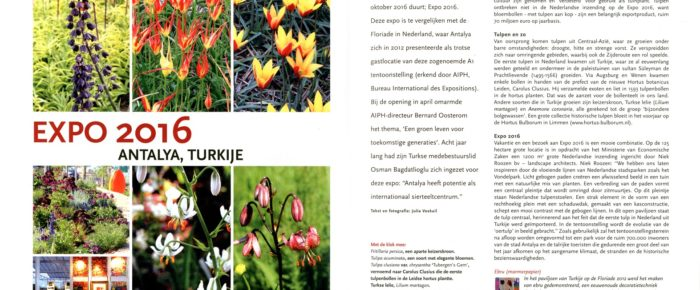 Tuinjournaal september 2016 – thema 'Aards paradijs'